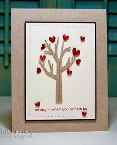 Valentine Heart Tree Love Card by Katie Melhus - Sweet n Spiffy