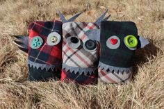 Mini Monster Hand & Pocket Warmers by FitzMade on Etsy