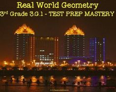 3rd Grade Standard 3.G.1 Real World Geometry TEST PREP MASTERY: Check out these varied learning opportunities!  Your kids will love the real-world photos that will grab their attention and generate discussion about geometry in the real world. Connect to your document camera or smart board and you're ready to go.