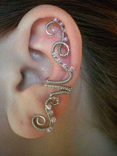 Lilac Princess Vines Ear Cuff    ♣  12.3.25