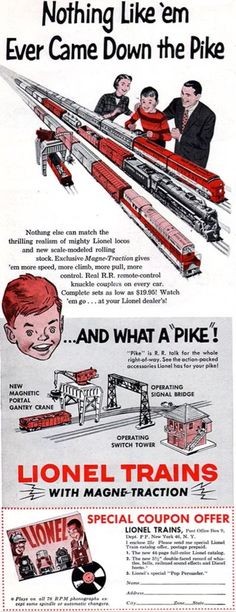 Lionel Trains advertisement 1954