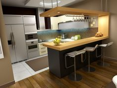 Nice Small Bar Idea For Home Kitchen