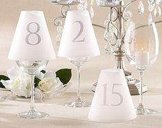 Abat jour pour verres marque table numérotés