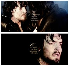 The Musketeers - Athos, 'My tongue will tell the anger of my heart; Or else my heart concealing it will break.' - W.Shakespeare