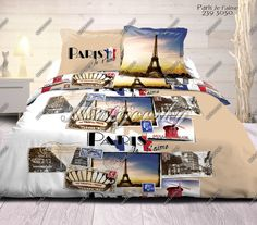 Ložní povlečení BAVLNA DELUXE-Paris Je t´aime|200