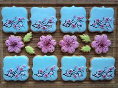blossom flowers flowers blooming cherry kwiaty kwitnącej wiśni cookies, gingerbread; ciasteczka; pierniczki