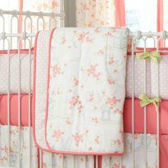 White Pagoda Crib Comforter | Carousel Designs love love love