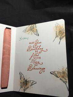 Martha Stewart butterfly inside birthday card