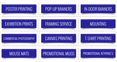 Improve your business with our Photo printing services. Print your logo , Band and Message.