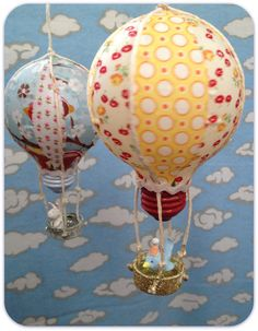 *Jennuine by Rook No. 17*: Repurposed Light Bulb Hot Air Balloon DIY