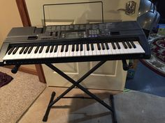 Casio Keyboard in JoshMonica's Garage Sale in Erie , PA for $50. Keyboard has Sheet Music Stand and adjustable Base Stand.It also has AC/DC adapter.