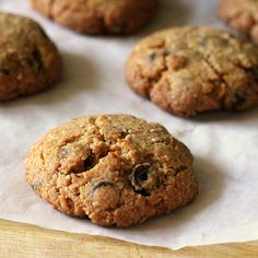 Vegan | Chocolate Chip Cookies from Vegan Richa | Whole grain, low-fat, crumbly, and chock full of chips.