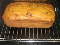 Kneaders pumpkin bread. This is a great recipe! No oil. . . butter and water instead. It uses a large can of pumpkin and make 3 loaves! This is a keeper!