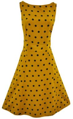 Vintage Marigold Polka Dot Dress