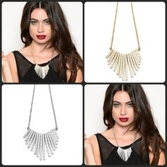 These Bohemian inspired necklaces speak to the fringe trend with their graduated design in both silver and gold. Pick them up now for a limited time!