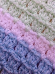 [Free Pattern] Adorable Block Stitch Baby Blanket - Knit And Crochet Daily Crochet Baby Blanket Free Pattern, Crochet For Beginners Blanket, Free Crochet, Knit Crochet, Different Crochet Stitches, Crochet Stitches Patterns, Knitting Patterns, Crochet Block Stitch, Crochet Blocks