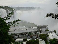 Footbridge on the Brazilian side, Iguazu Falls Iguazu Falls, Niagara Falls, South America, Nature, Travel, Naturaleza, Viajes, Trips, Nature Illustration