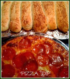Sweet Tea and Cornbread: Pizza Dip with Homemade Breadsticks!
