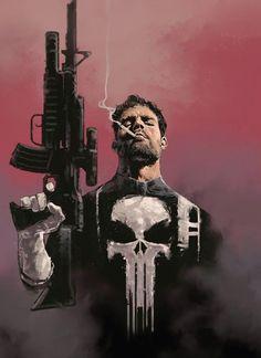 Punisher by Dave Seguin (Marvel comics) Punisher Marvel, Marvel Comics, Ms Marvel, Hero Marvel, Heros Comics, Bd Comics, Deadpool Wolverine, Captain Marvel, Marvel Avengers