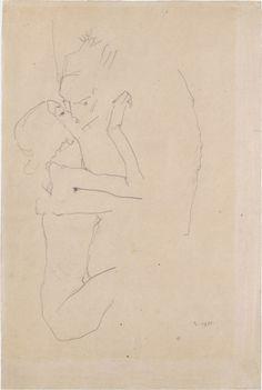Egon Schiele The Kiss, 1911