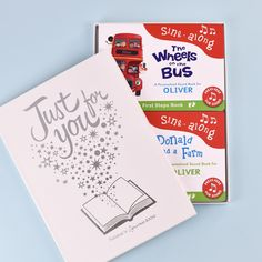 Personalised Wheels On Bus & Old Macdonald Sound Book Set