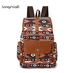 Cheap mochila bolsa, Buy Quality canvas backpack directly from China bag mochila Suppliers: longmiao Women Ethnic Canvas Backpack Preppy Style School Girl Bohemia Printing Student School Travel Laptop Bag Mochila Bolsas
