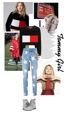 """""""Tommy Girl."""" by middayxmuse ❤ liked on Polyvore featuring Tommy Hilfiger, STELLA McCARTNEY, stars, tommyhilfiger and gigihadid"""
