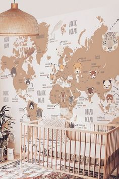 2021 NURSERY DESIGN TRENDS (6) Baby Room Themes, Bedroom Themes, Baby Room Decor, Nursery Themes, Bedroom Ideas, Wall Decor, Baby Bedroom, Baby Boy Rooms, Baby Boy Nurseries