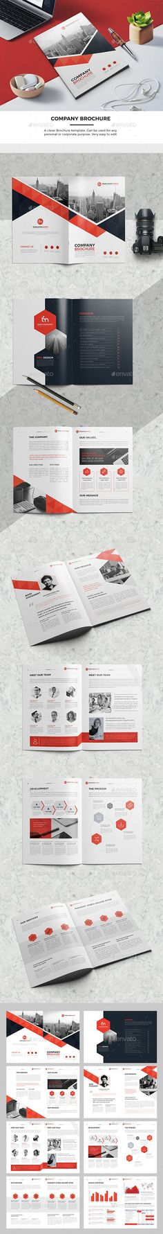 TM Company Brochure — InDesign INDD #visual #clean • Download ➝ https://graphicriver.net/item/tm-company-brochure/19562914?ref=pxcr
