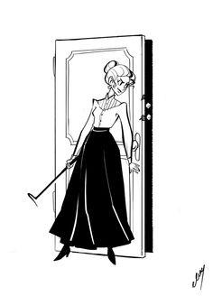 Susan Sto Helit by miss-dronio on DeviantArt Discworld Books, Terry Pratchett Discworld, Lockwood And Co, Lady Sybil, Creepy Cute, Movie Costumes, Mythology, Monsters, Nerdy