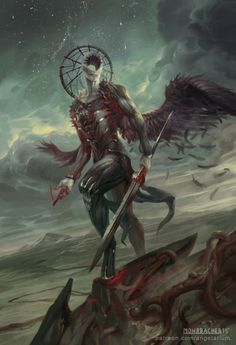 Simikiel, Angel of Vengeance by PeteMohrbacher ... | Creatures from Dreams