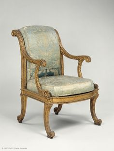 *This fauteuil was part of a set supplied in 1777 to the Palais du Temple for the Turkish cabinet of the Count d'Artois.