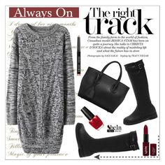 """""""AlwaysOnTheRightTrack"""" by water-polo ❤ liked on Polyvore featuring OPI, Bobbi Brown Cosmetics, NYX, Sheinside, polyvoreeditorial and waterpolo"""