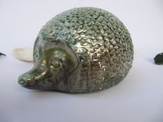 ceramic hedgehogslipcaste with turquoise by stellakeramika on Etsy