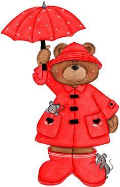 April Bear in Red