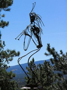 Kokopelli Metal Sculpture