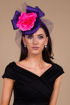 Taylor Purple And Pink Fascinator Dresses To Wear To A Wedding, Wedding Outfits, Pink Fascinator, Knee Length Dresses, Chic Outfits, Luxury Fashion, Glamour, Clothes For Women, Elegant