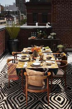 Diane von Furstenberg on the terrace of her Manhattan apartment