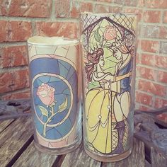 These stained glass candles. | 33 Magical Disney Decorations You Need In Your Life