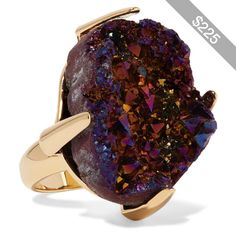 Christopher Kane Gold-tone stone ring