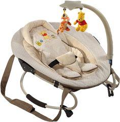 #puericultura Hauck 634066 – Mecedora para bebés con arco de juegos, diseño de Winnie the Pooh (bebés hasta 9 meses o 9 kg), color beige
