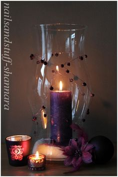 Candle Centerpiece but change color to pink.