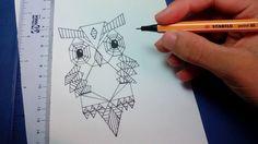 como desenhar uma coruja fácil