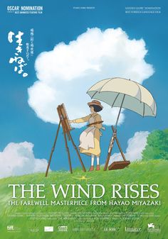 A fantastic poster from the Academy Award-winning anime movie The Wind Rises by Hayao Miyazaki and Studio Ghibli! Check out the rest of our great selection of Hayao Miyazaki posters! Need Poster Mounts. Hayao Miyazaki, Anime Body, Anime W, Zelda Anime, Anime Quotes Tumblr, Studio Ghibli Films, Anime Pokemon, Le Vent Se Leve, Joe Hisaishi