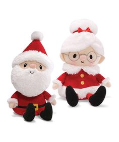 Take a look at this Mr. & Mrs. Claus Dolls Set by GUND on #zulily today!