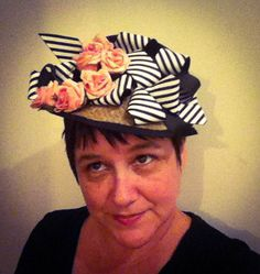 Millinery  Black and White  Hand Made  by katherinecareyhats, $275.00