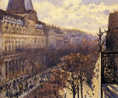 Boulevard des Italiens, 1880, by Gustave Caillebotte (1848-1894) ...