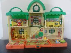 Miniature 1:12 scale original 1980/'s CABBAGE PATCH KIDS  Dollhouse EMPTY TOY BOX