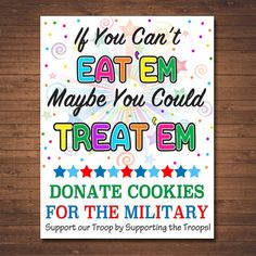 Cookie Booth Sign, If You Can't Eat 'Em Treat 'Em, Donate Cookies For Military Troops, Printable Cookie Drop Banner, Girl Scout Cookie Meme, Girl Scout Cookie Sales, Brownie Girl Scouts, Girl Scout Cookies, Girl Scout Swap, Girl Scout Leader, Girl Scout Troop, Cub Scouts, Scout Mom