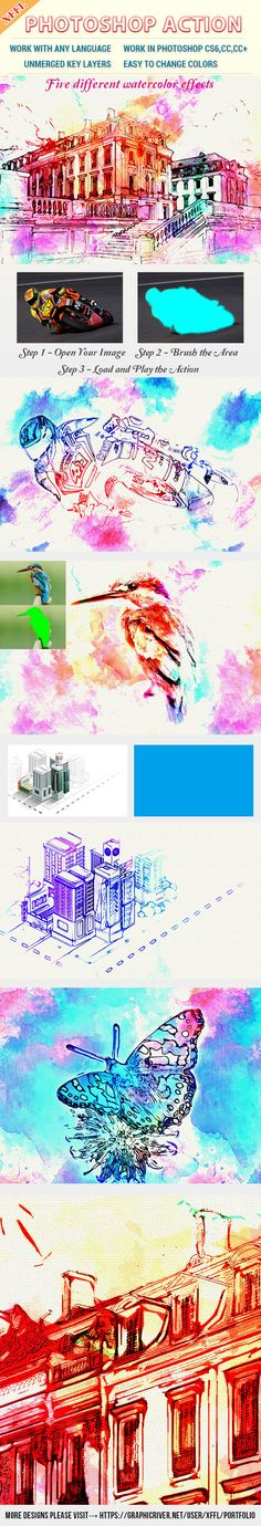 Watercolor Art V2 #Photoshop Action - #Photo Effects #Actions Download here: https://graphicriver.net/item/watercolor-art-v2-photoshop-action/19627925?ref=alena994